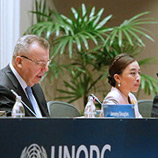 Photo: Her Royal Highness Princess Bajrakitiyabha Mahidol of Thailand and UNODC Executive Director Yury Fedotov