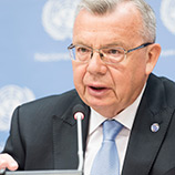 While in Bangkok, UNODC Executive Director Yury Fedotov highlights the need to strengthen criminal justice to achieve the Sustainable Development Goals. Photo: UNPhoto_MarkGarten