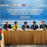 UNODC Supports Launch of Asset Recovery Inter-Agency Network in West and Central Asia targeting illicit wealth in the Region; Photo: UNODC