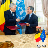 Belgium and UNODC sign two-million-euro funding agreement to strengthen fight against corruption and wildlife crime in Africa; Photo: Belgium Foreign Affairs, Foreign Trade and Development Cooperation
