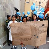 Bolivia joins UNODC Blue Heart Campaign against human trafficking