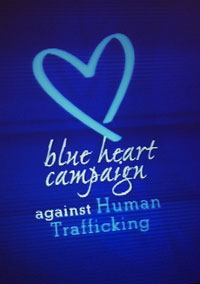 unodc launches blue heart campaign against human trafficking