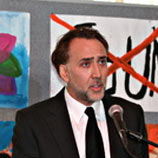 Nicholas Cage, acclaimed actor, at the Gulu Gala Event