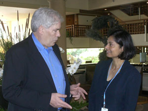 Jim Clancy and Preeta Bannerjee