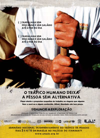 Poster from the Brazilian human trafficking campaign