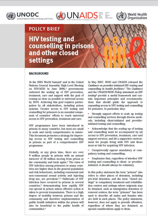 brief report on aids