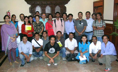 Participants with the Trainers and Project Consultant