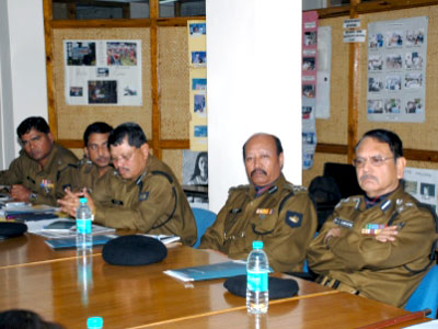 Uniformed delegates of Border Security Force