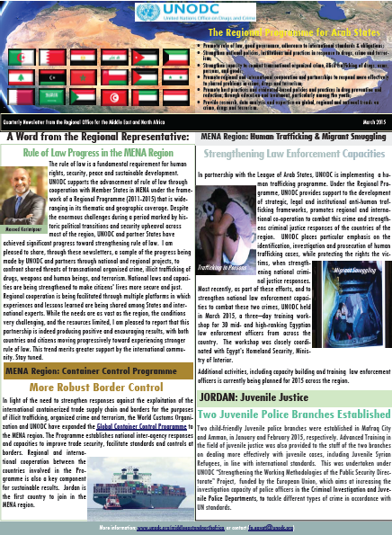 Quarterly Newsletter from the Regional Office for the Middle East and North Africa