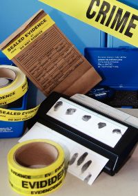 Content of the UNODC crime scene kit to help preserving and analyzing crime scene evidence. Photo: UNODC