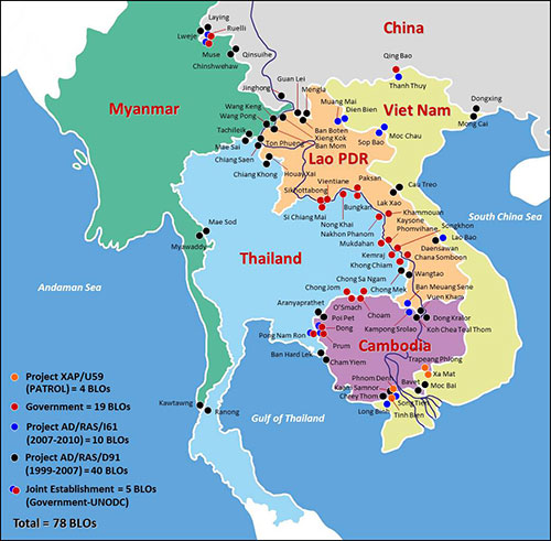 Myanmar Joins The Patrol Countertrafficking Effort In Greater: Map Of Myanmar Thailand And Laos At Infoasik.co
