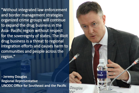 Jeremy Douglas United Nations UN UNODC Asia ASEAN drug trafficking policy