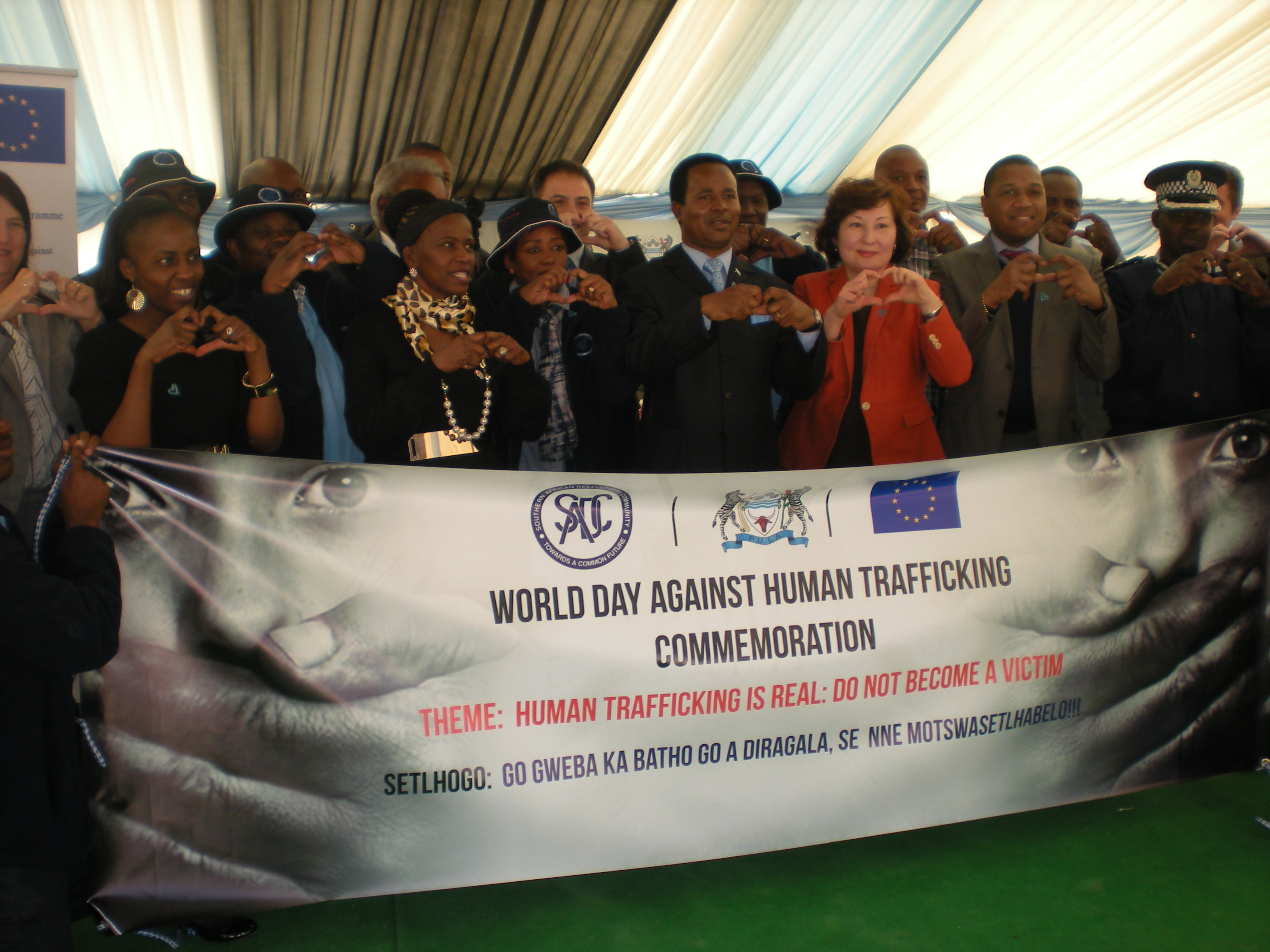 Commemoration of International Day Against Trafficking in Persons, Botswane (Picture: UNODC)