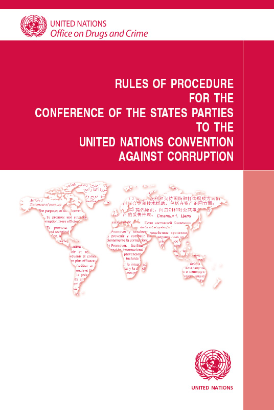 Rules of Procedure for the Conference of the States Parties to the United Nations Convention against Corruption