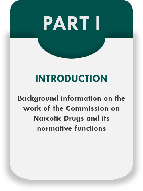 Part I - Introduction - Background information on the work of the Commission on Narcotic Drugs and its normative functions